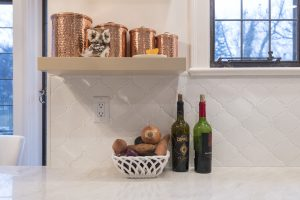 glazed ceramic tile backsplash