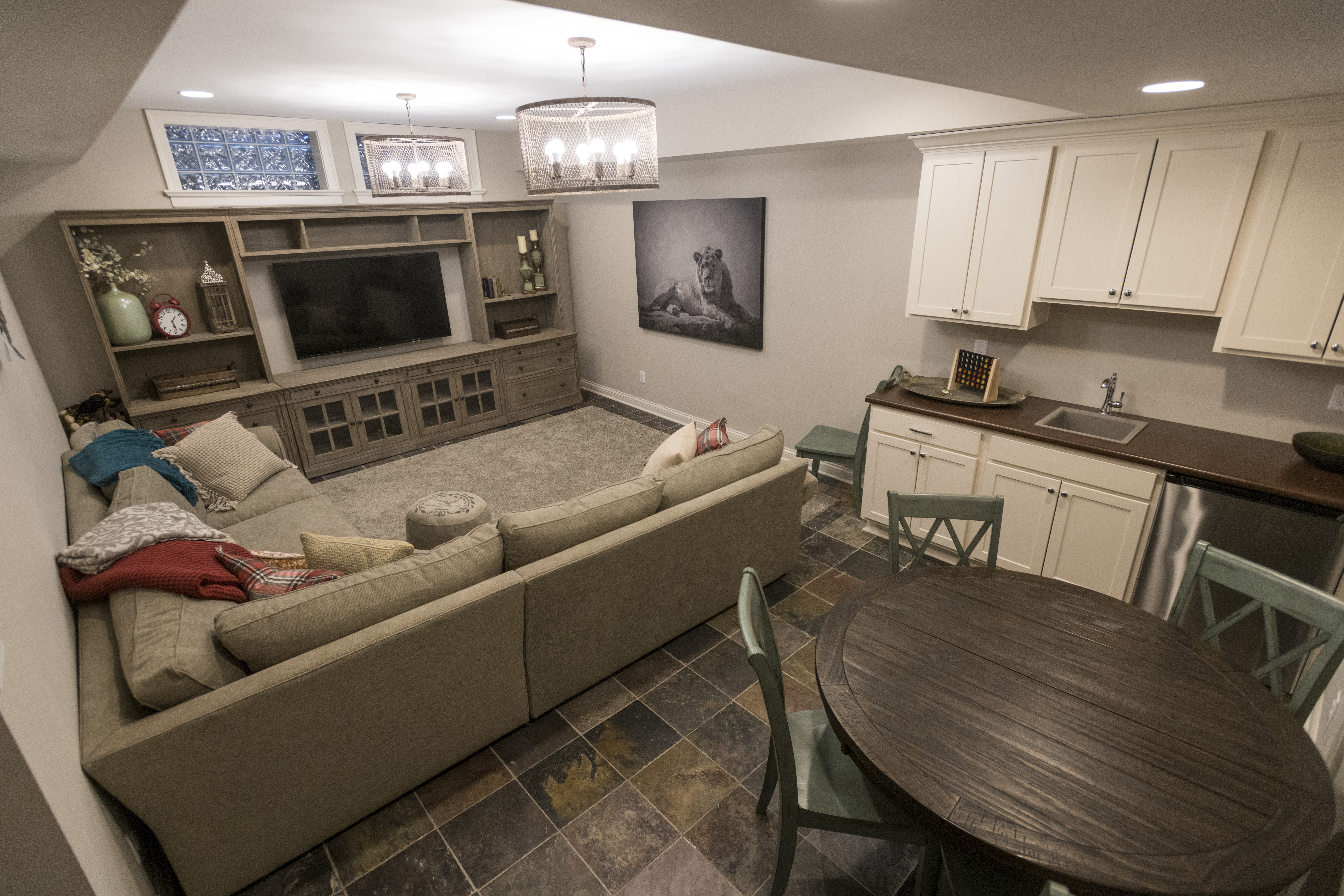 Living Room And Kitchen Combined