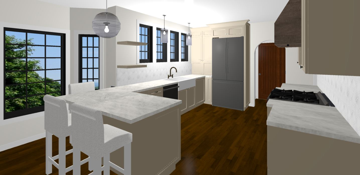 3D rendering kitchen remodel