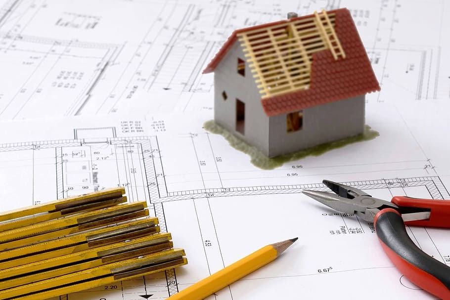 home construction blueprint