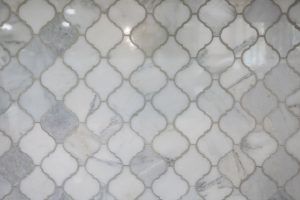 arabesque tile made from natural stone Carrara marble